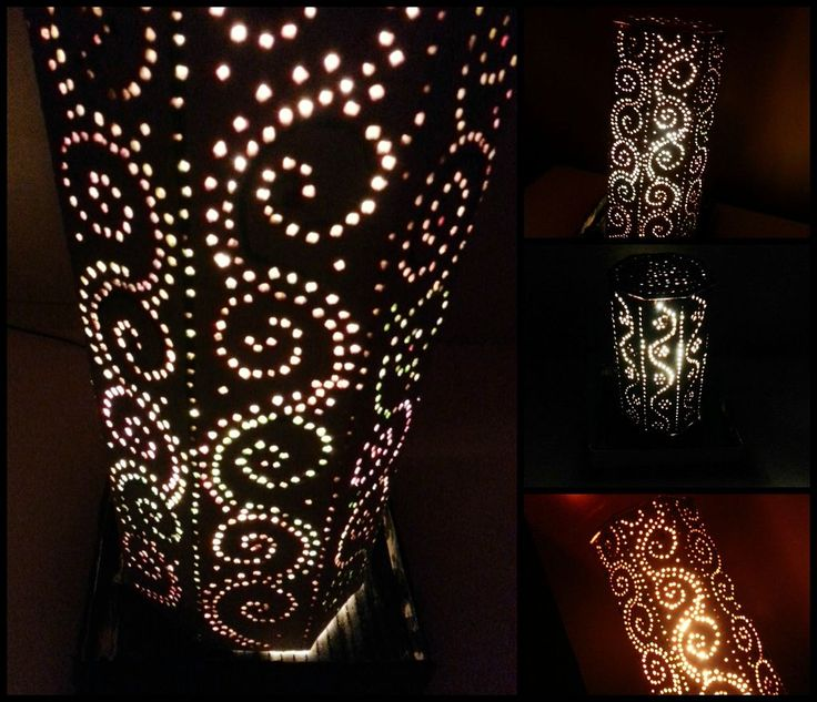 725 best diy lamp images on pinterest live lighting ideas and home creative patterned lamp shade diy project the homestead survival diy lamp projects solutioingenieria Images