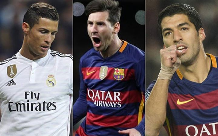 Quien es mejor Messi Suarez o CR7? #messi #suarez #cr7