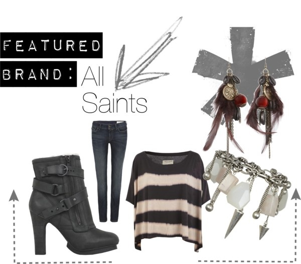 """""""Featured Brand: All Saints"""" by allanaaaa on Polyvore"""