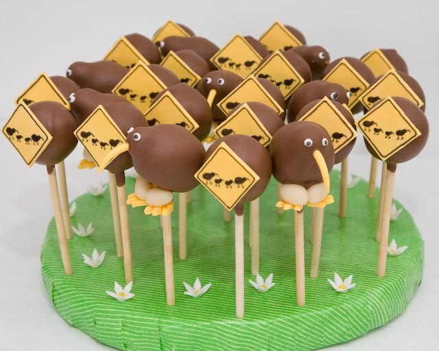 Kiwi bird cakepops  www.TaartaMorgana.nl