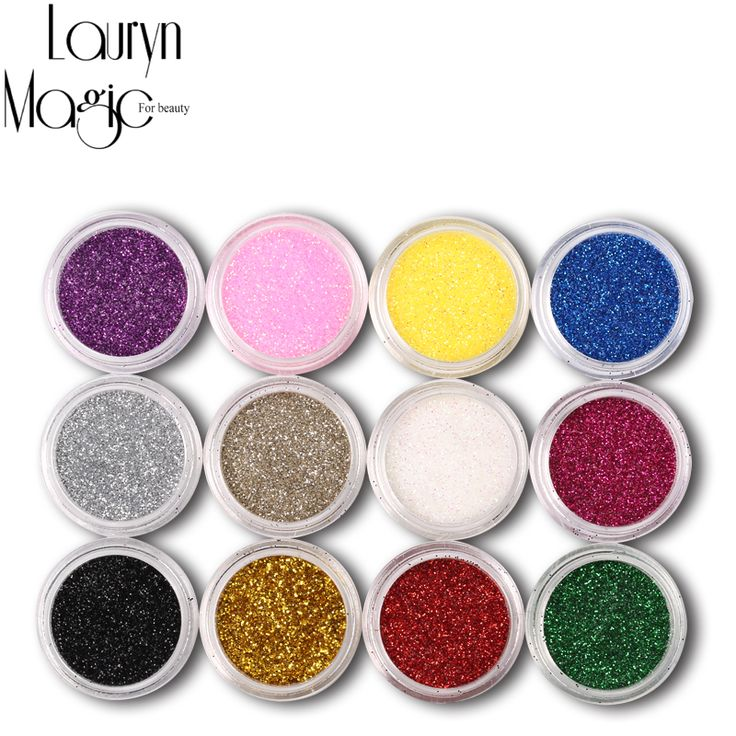 12 cores Mix UV Gel Glitter pó poeira Nail Art Glitter alishoppbrasil