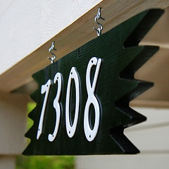 Crestview Doors - Ranchero Numberplates and numbers!    http://www.crestviewdoors.com/products/house-numbers.html