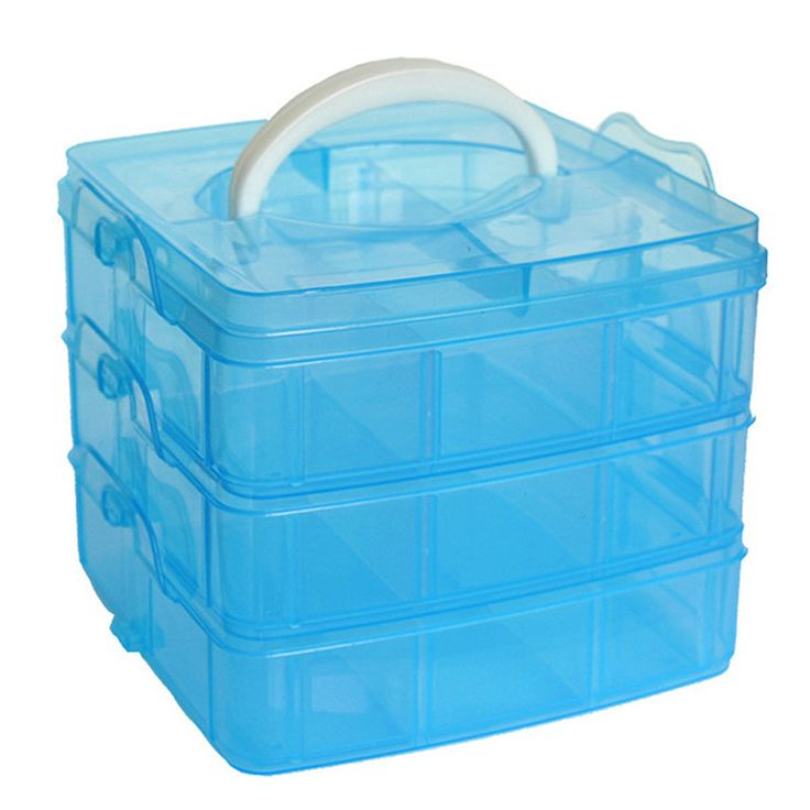 New 18 Grids adjustable Storage Case Box Holder Container 3 layer jewelry beads bill organizer holder candy colors on sale