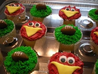 USC Cocky Cupcakes!    These might be Big D's birthday cupcakes this year!