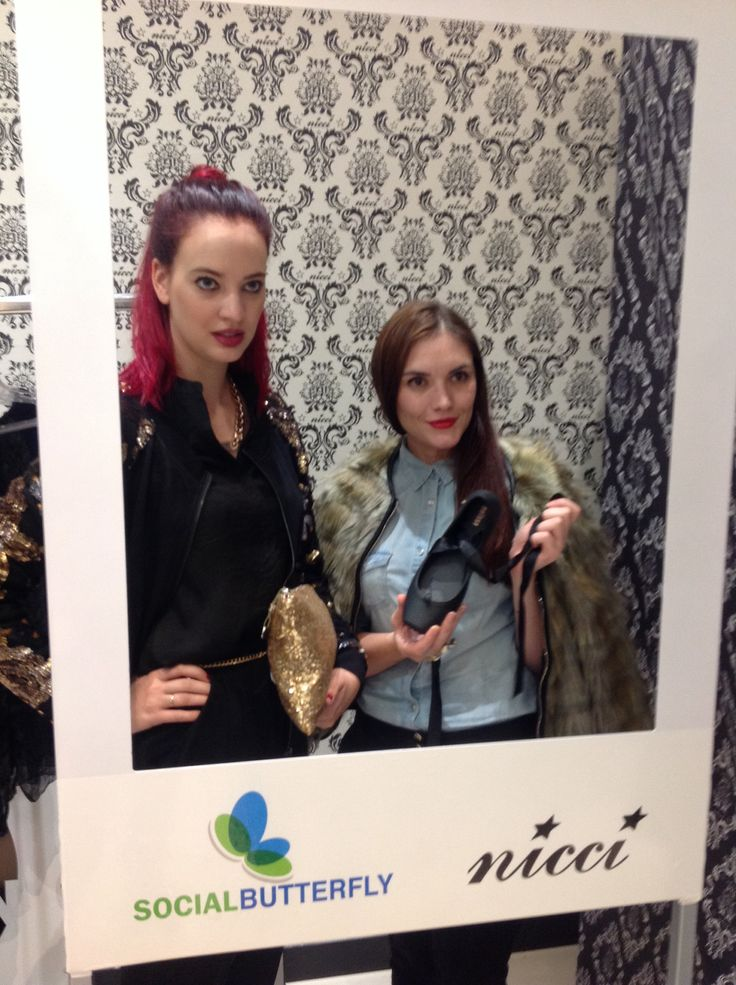 Jess Lupton of Gaschette & ELLE Belle Sheena Bagshawe spotted at #NicciWinter14 launch