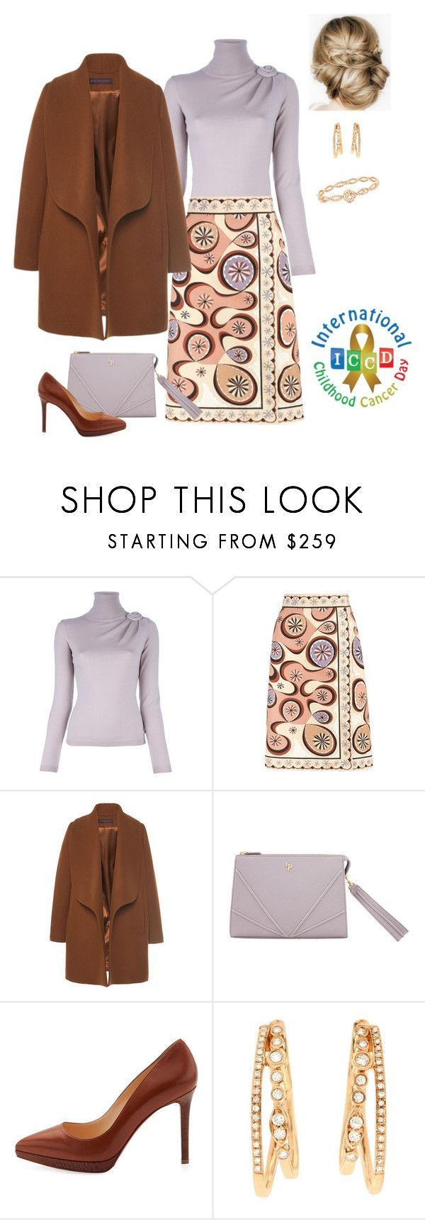 """""""Queen Rose attended the presentation of the song """"We are one"""" for the fight against cancer in children"""" by hm-queen-rose ❤ liked on Polyvore featuring Valentino, Emilio Pucci, Martin Grant, Christian Louboutin, Effy Jewelry and Piaget"""