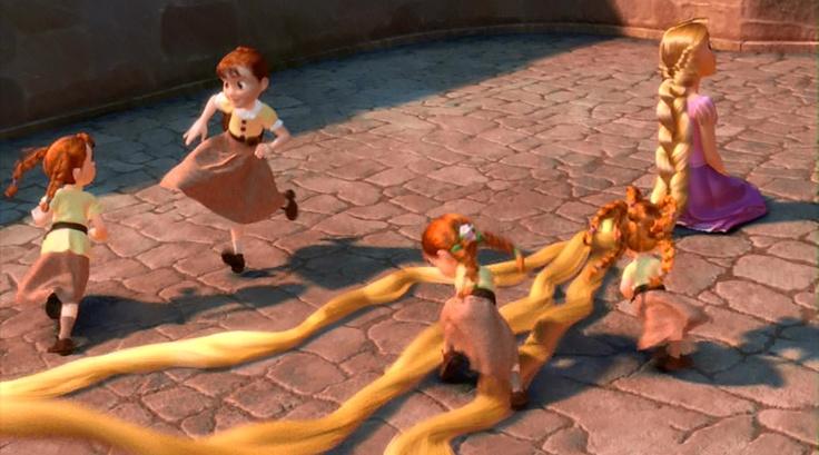 Braiding Rapunzel S Hair Tangled Pinterest Tangled