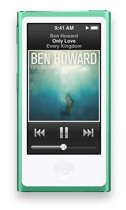 When I want to bring a little music along... My IPod Nano.