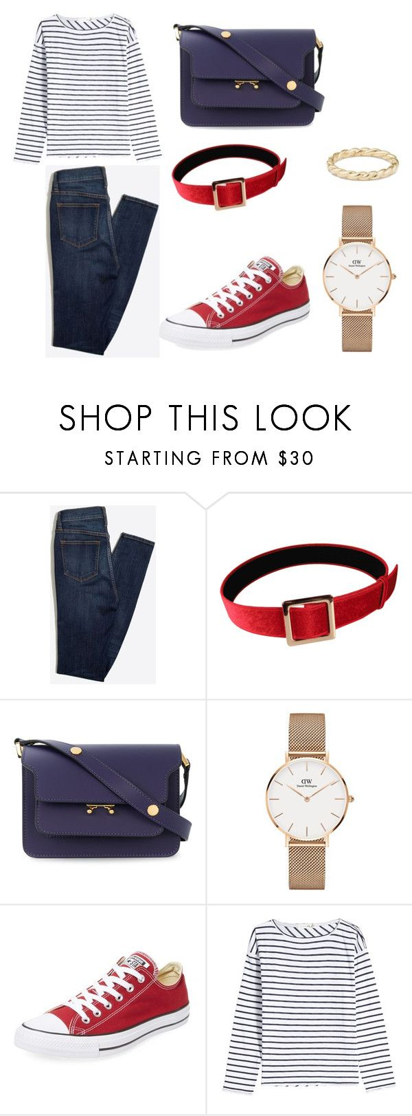 """sailors outfit"" by meliaa888 ❤ liked on Polyvore featuring Marni, Daniel Wellington, Converse, rag & bone and David Yurman"