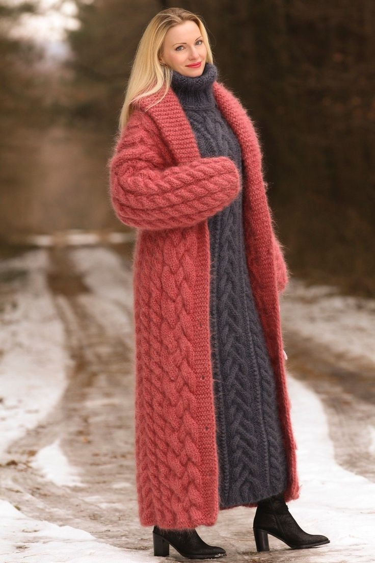 Knitted Jumper Dress Red