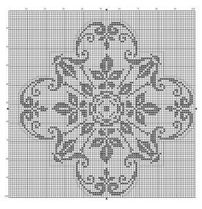 Square 15   Free chart for cross-stitch, filet crochet   Chart for pattern - Gráfico