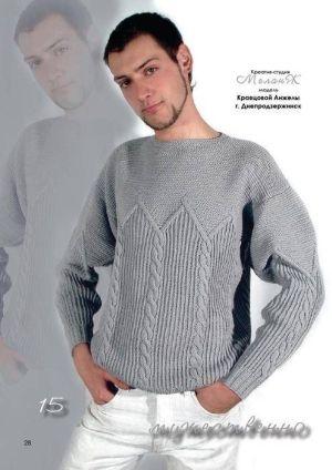 Мужское вязание » Вязание спицами, крючком, схемы вязания