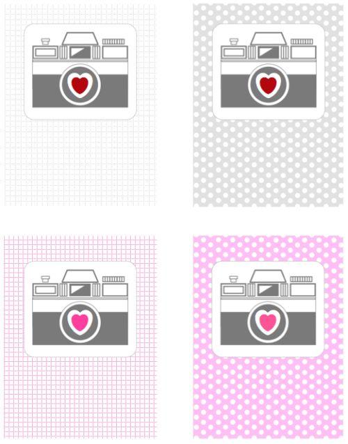 Free printable camera journal cards