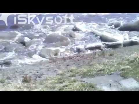 Kuskokwim River Huge Ice Chunks Climbing 50 Vertical Feet In Less Than 1...