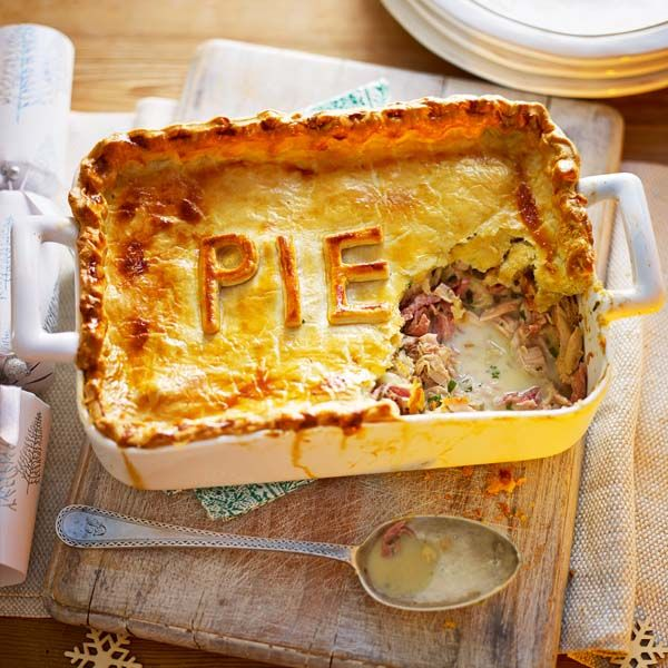 A crowd-pleasing pie recipe to use up leftover Christmas meats. Warning: one slice won't be enough!