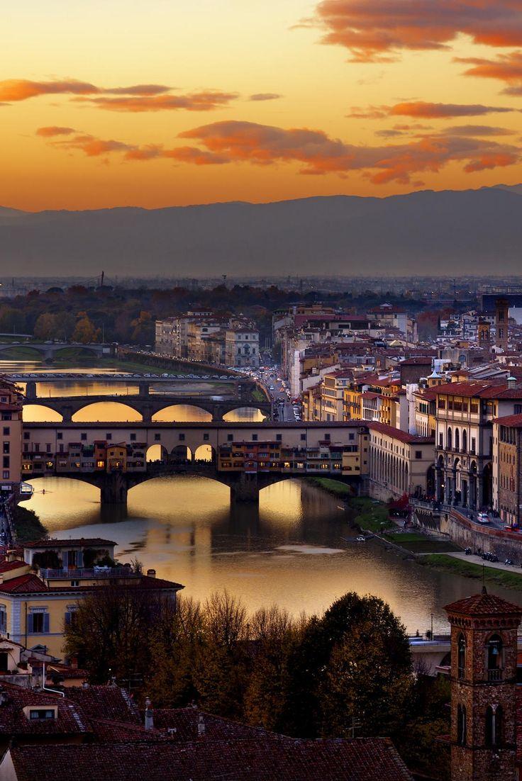 Florence at sunset, Tuscany, Italy