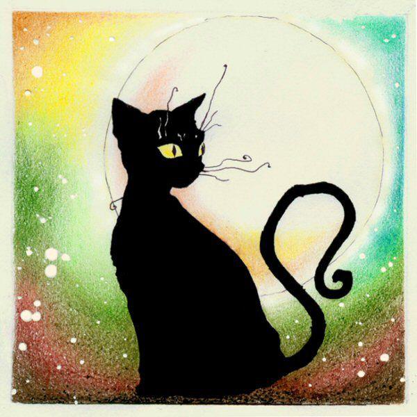 Pinturas de gatos buscar con google illustration for Goodnight moon tattoos
