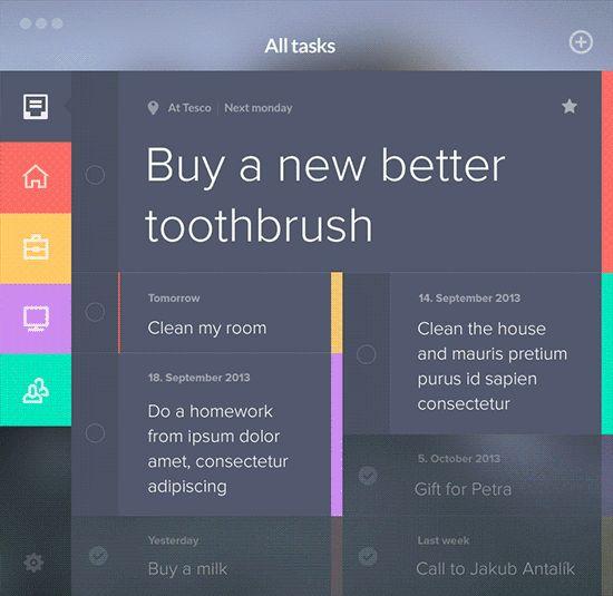 Taasky Desktop by Jakub Antalík, via Behance