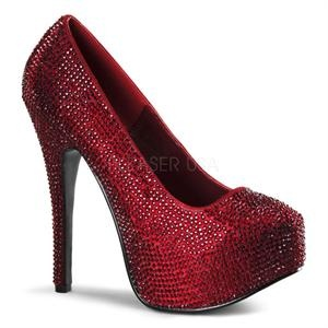 Red Rhinestone Pump