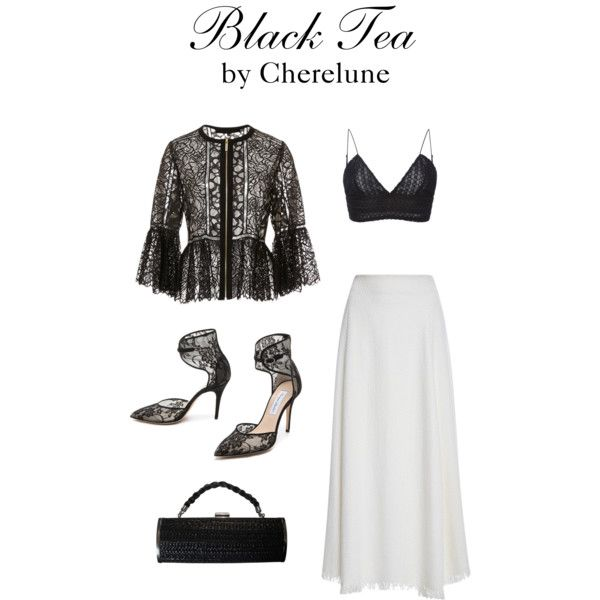 Black Tea by cherelune on Polyvore featuring polyvore, fashion, style, Elie Saab, ADAM, Monique Lhuillier and KOVA
