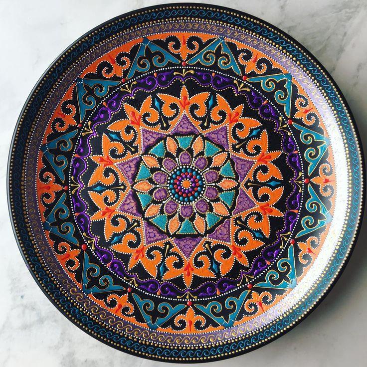 Ярких снов) тарелочка выполнена на заказ, 35см