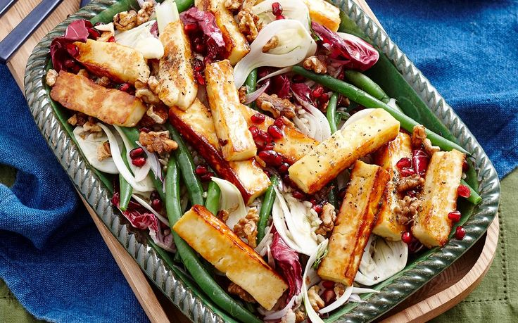 Honey glazed haloumi salad recipe - By Woman's Day, This vegetarian salad perfectly balances sweet and salty flavours, and is packed full of goodness from the haloumi, brown rice and fennel.