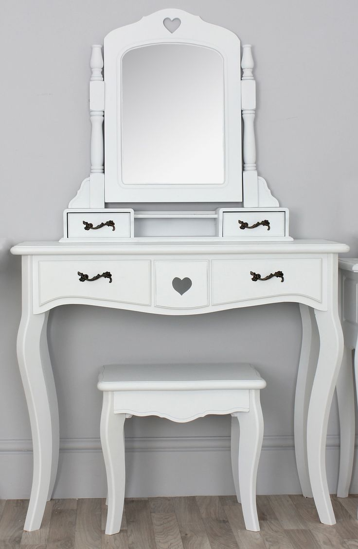 Shabby chic champagne furniture cream chest of drawers dressing - Vanity Mirror Dressing Table With Stool