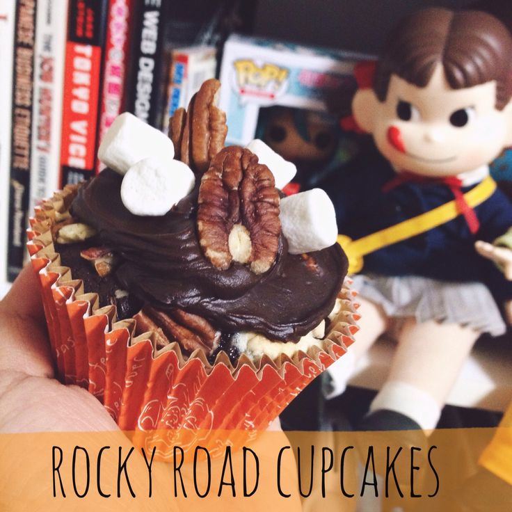 Rocky road cupcakes soon at www.youtube.com/rainbowholicTV