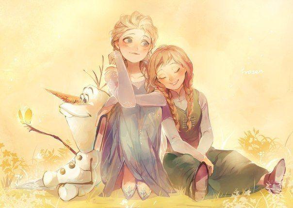 Холодное сердце. Эльза, Анна и Олаф.