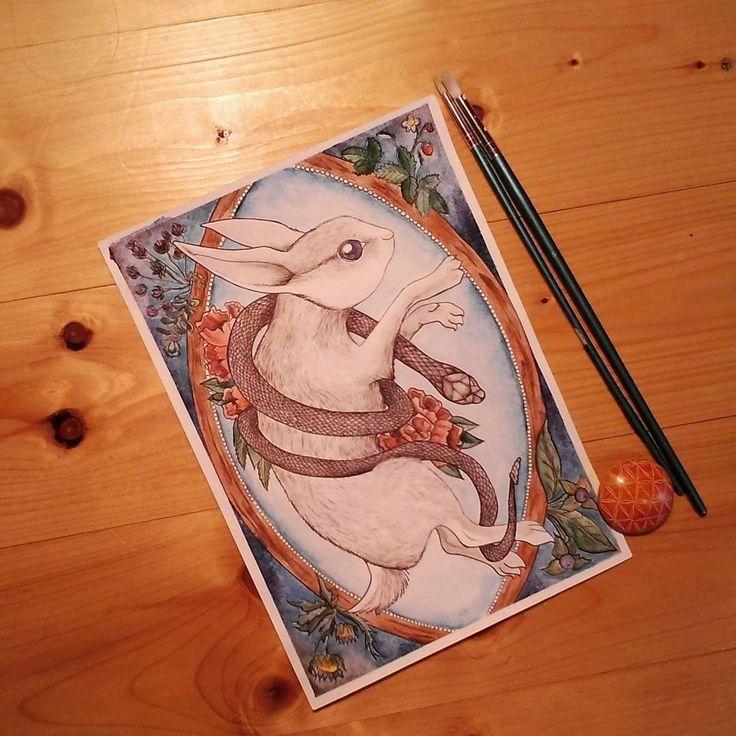"Páči sa mi to: 44, komentáre: 1 – Natalia A.K.A cipana.natalia (@cipana.natalia) na Instagrame: ""Last Kiss A4 Ink, watercolors,pen For prints contact via DM #artist #instaartwork #originalartwork…"""
