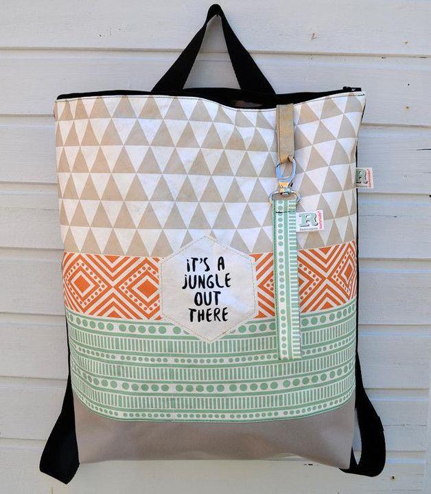 Rucksack und Tasche mit Ethnomotiven / backpack and shopper bag, ethno hippie…