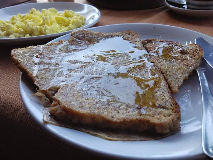 """An interesting thing happened in Varkala, while we happened to have our Breakfast,, we were told that """"French Toast"""" isn't actually french!! Thanks to our french friend whom we befriended during the trip. #Varkala #Kerala #Beach #Food #Stories #Travelogue #Travel"""