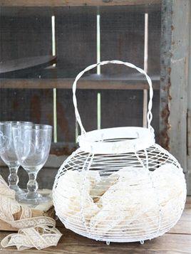 White Egg Basket