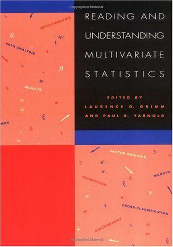 Bestseller Books Online Reading & Understanding Multivariate Statistics Grimm $19.26