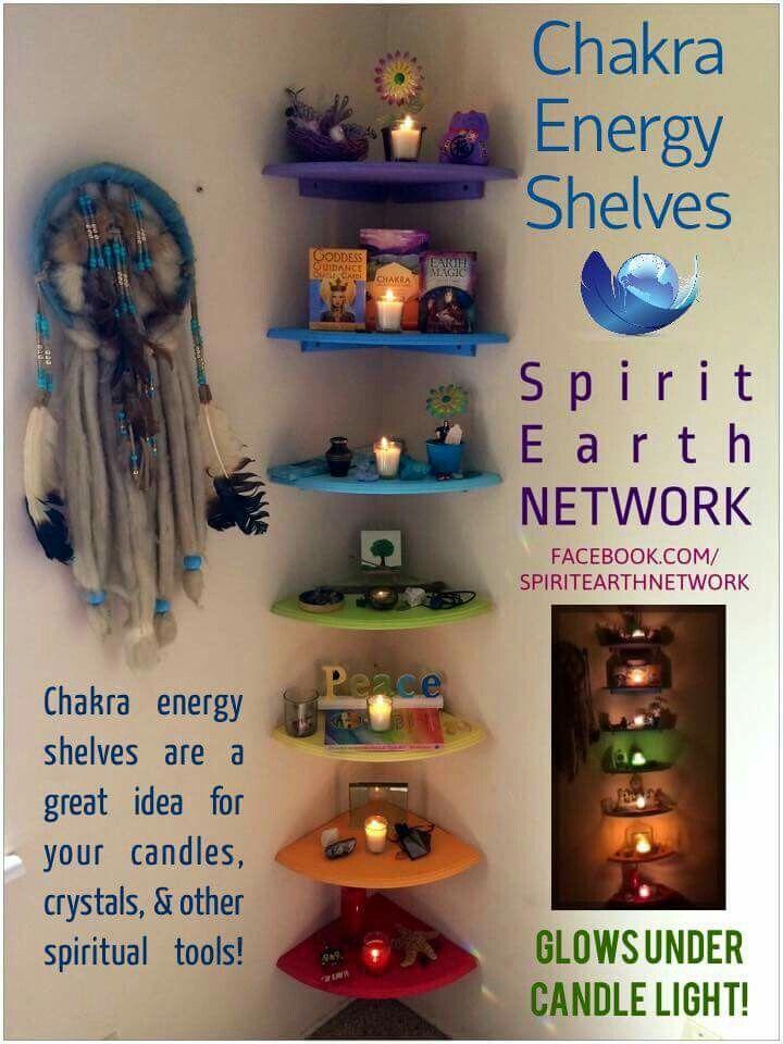 Chakra energy shelves