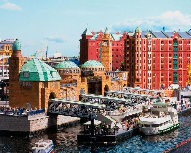 Die Landungsbrücken im Miniatur Wunderland Hamburg