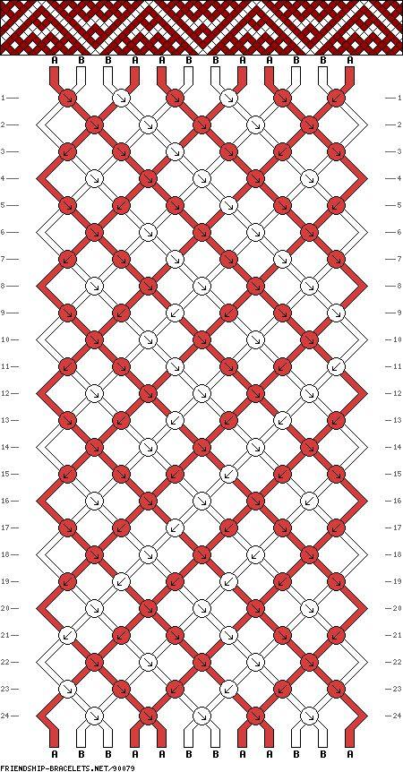 Muster # 90079, Streicher: 12 Zeilen: 24 Farben: 2
