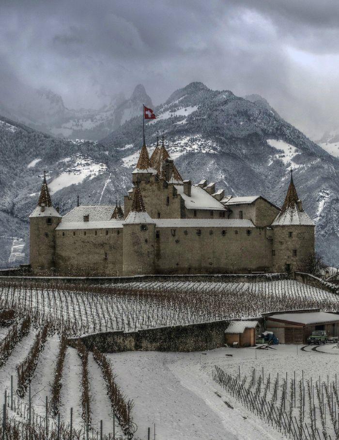 Château d'Aigle, canton de Vaud, Suisse