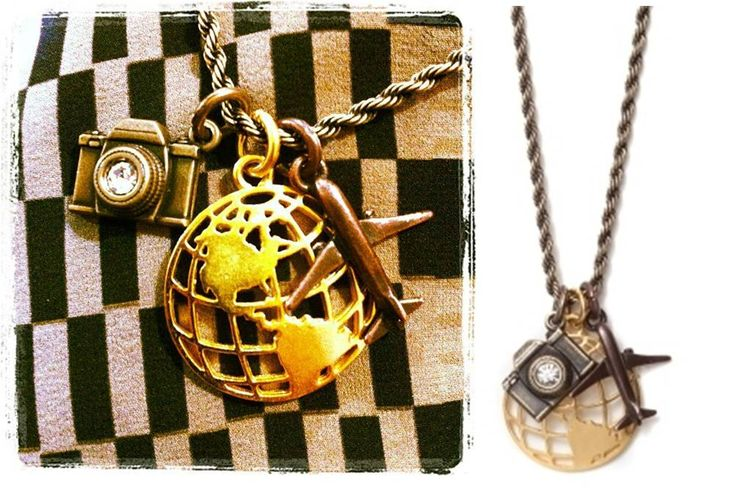The Globe Necklace. Traveling anyone?