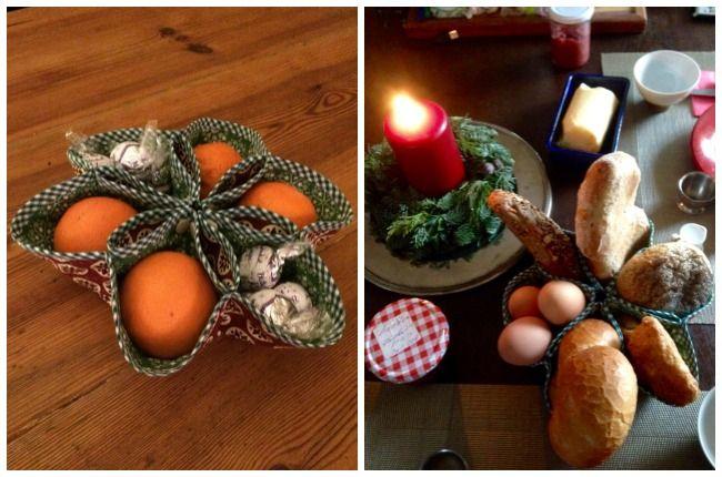 Ein Weihnachtskörbchen DIY: Nähen in der Weihnachtszeit