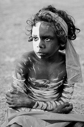 Yolngu Aboriginal Boy Arnhemland Australia by Cameron Herweynen