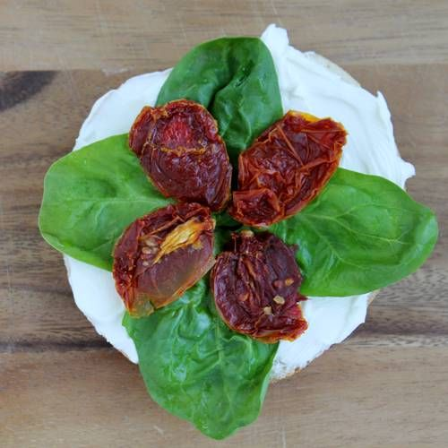 Give yourself a reason to rise early this morning with this beautiful bagel! With sundried tomatoes, fresh basil, and a drizzle of balsamic, the Real Women of Philadelphia take the lunchtime Caprese Salad to the breakfast table!