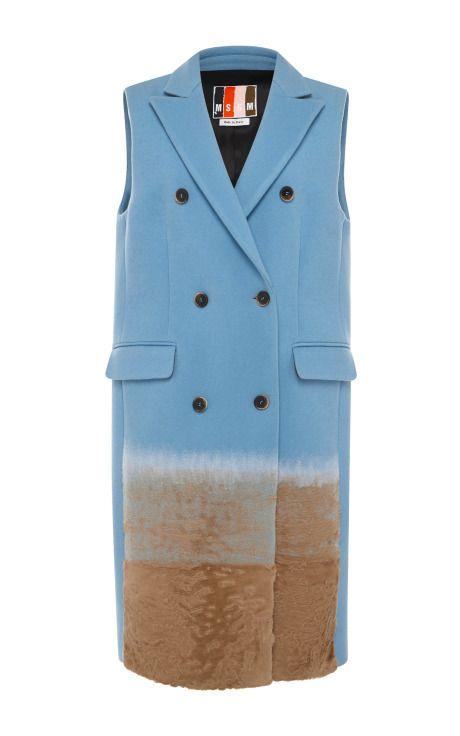 capolavoro - Sleeveless Wool Waistcoat With Fur Trim by MSGM - Moda Operandi