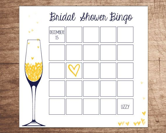 Thanks for visiting!  This is a printable bingo board. This bridal shower bingo game is the perfect addition to the Champagne Brunch Bridal Shower