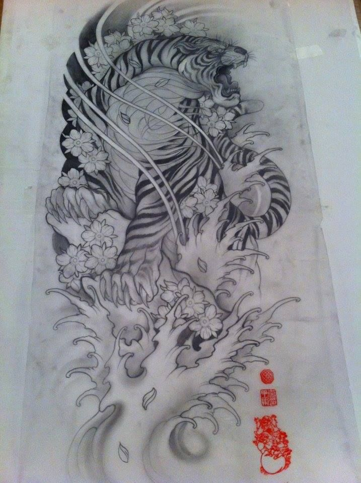 Tiger tattoo sketch