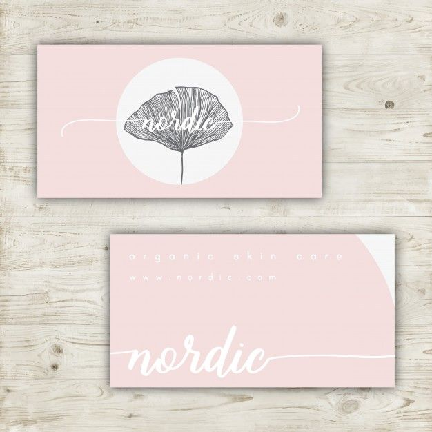 Minimalist business card design in pastel colors Free Vector