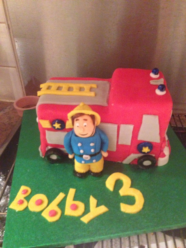 Fireman Sam chocolate cake