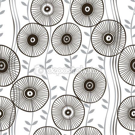 Абстрактные Цветы шаблон — стоковая иллюстрация #85379238