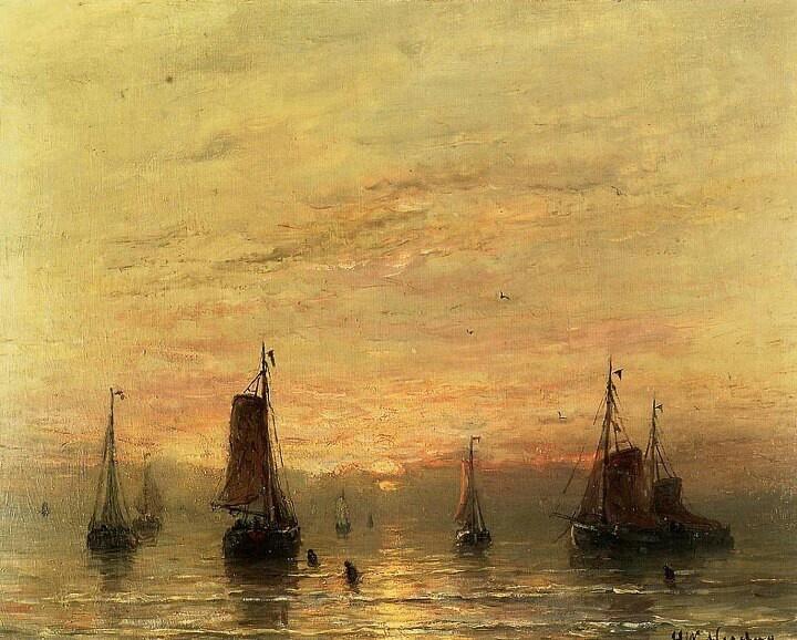 "by Hendrik Willem Mesdag (1831-1915) ""Summer Sunset,Scheveningen"""