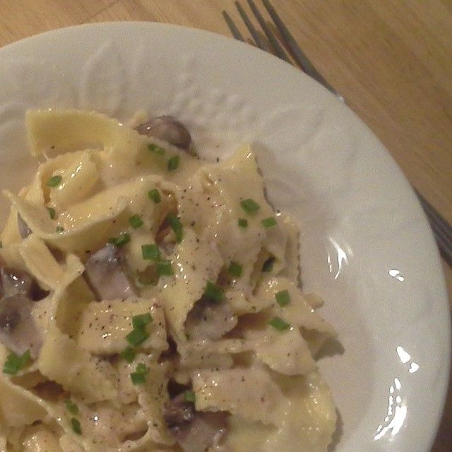 """Mushroom Alfredo  